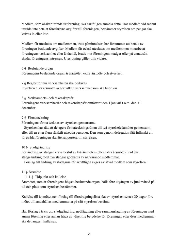 Stadgar för KULTURSCENEN (2